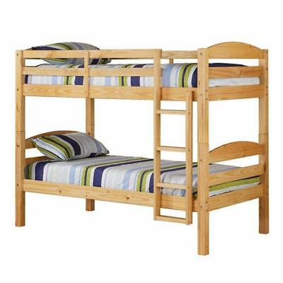 Walker Edison Furniture Co. Natural Twin Solid Wood Bunk Bed - BWSTOTNL