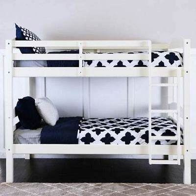 Walker Edison Furniture Co. White Twin/Twin Solid Wood Bunk Bed - BWSTOTWH