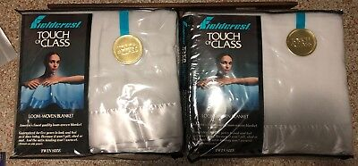 Fieldcrest Touch of Class Acrylic Twin Size Blanket Loom Woven New in Package