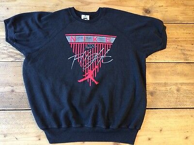190c486e01e Vintage Nike Air Jordan Flight 80s 90s 23 T-Shirt Sweater Jumper Retro  Black OG