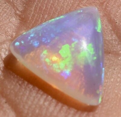 FANTASTIC  CRYSTAL OPAL - 10x 10mm  -  BRIGHT BLUE and GREEN
