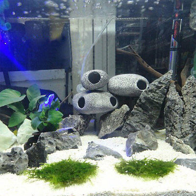 Pet Aquarium Stone Cichlid Ornament Shrimp Breeding Cave Fish Tank