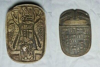 RARE ANCIENT EGYPTIAN ANTIQUE SCARAB Carved Stone 1496-1364 BC
