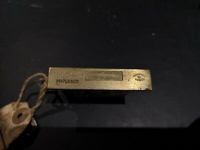 Maple and Co 4 lever brass Antique Vintage cut cabinet lock and key