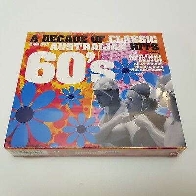 A Decade Of Classic Australian 60s Hits - 2 CD Set. BRAND NEW. Sealed.