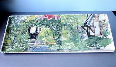 """Gien PARIS A GIVERNY Oblong Serving Tray / Dish / Platter 14x6"""" New"""