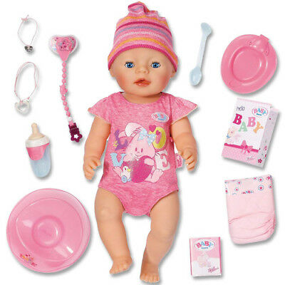 Zapf Creation BABY born Interactive Girl 822005 Mädchen Puppe Töpchen Windel