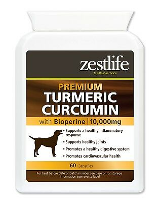 Zestlife Turmeric for Dogs 500mg extract equivalent to 10,000mg 60 capsules