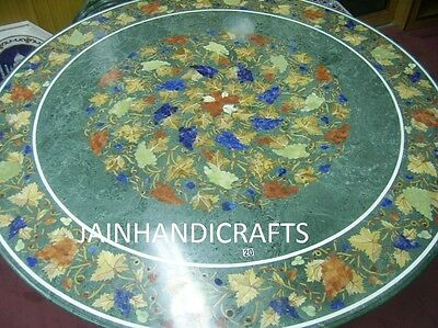 """Marble Dining Coffee Corner Center 42"""" Malachite Table Top Mosaic Inlay G Green"""