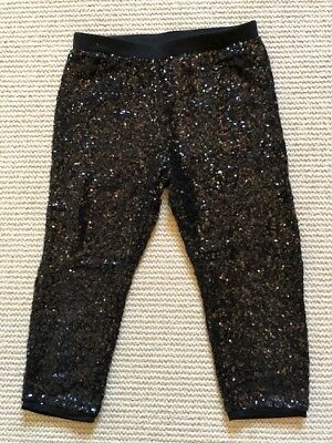 Girls Next black sparkly party leggings / trousers / to the knee. Age 9 years