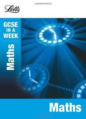 Letts GCSE In a Week - Maths, Mapp, Fiona, Good Condition Book, ISBN 97818441962