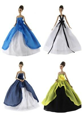 4 PCS Fashion Royalty Princess Party Dress/Clothes/Gown For 11 in. Doll N01