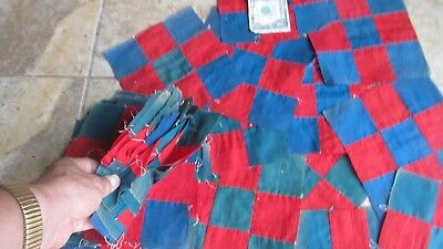 """Lot of (47) 7"""" Antique 9 PATCH Patchwork Quilt Blocks, Crafts, AMISH STYLE, Gift"""