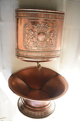 VTG Antique Copper Fountain Handwash Villedieu Solid Copper Big 7.7lbs 30inch