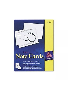 Avery Laser Note Cards 5315 60 Cards