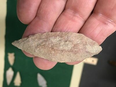 Arrowhead knife  morrow mountain sugar quartz Authentic VA point  nc sc ga mass