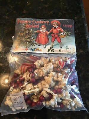 Popcorn & Cranberry Garland 9' Long Country Primitive By Ramon House Brand New