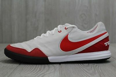 56cc085b66d 34 Nike TiempoX Proximo IC Indoor Soccer Shoes Red White 843961 161 Sz 11.5