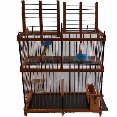Bird Doppelfalle Live Trap Cage Trap Holzkäfig Live Trap Goldfinch