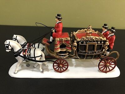 Dept 56 Dickens Village The Queen's Parliamentary Coach Preowned Euc