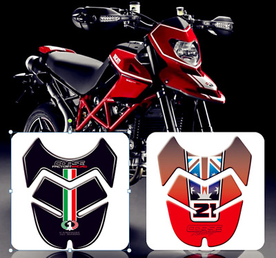 3D Fuel Protector Tank Traction Pads Sticker For Ducati Hypermotard 796 1100