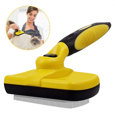 Pet Self Cleaning Slicker Brushes Best Shedding Tools for Grooming Cat Dog Hair