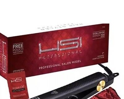 "HSI Professional Glider 1"" Ceramic Tourmaline Ionic Flat Iron Hair Straightener"