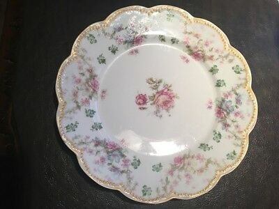 BEAUTIFUL HAVILAND LIMOGES SCHLEIGER #72 lunch plate 8 1/2 inches