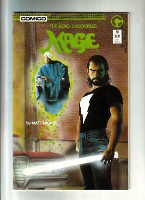 Mage #15  Double Size Issue  Matt Wagner  Comico 1986 NM