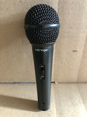 Behringer ULTRAVOICE XM8500 Dynamic Vocal Microphone Used XLR Connection