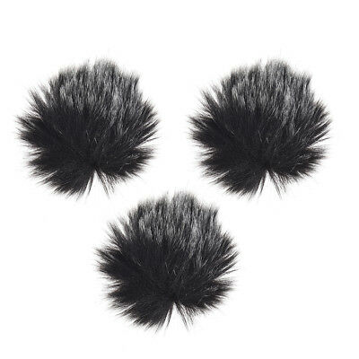 Furry Outdoor Microphone Windscreen Muff Mini Lapel Lavalier Microphone X5P0