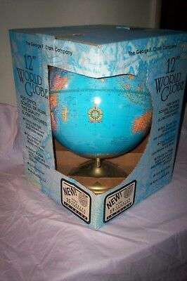 """""""VINTAGE 12"""" WORLD GLOBE by George F. Cram Co.    (IMPERIAL) Model   """"new"""""""