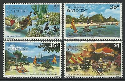 Grenadines Of St Vincent Qe11 1977 Prune Island Set Mint