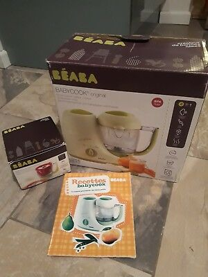 Beaba Baby-Cook 4 in 1 Baby Food Processor Steam Cook Blend - plus rice cooker