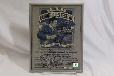 Anderson East  Autographed Signed Poster Budweiser Illinois Blue Festival 2015