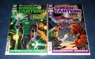 GREEN LANTERN #1 & #2 1st print set DC COMIC 2018 GRANT MORRISON SHARP OLIFF NM