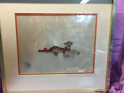 Original Disney Animation Production Cel - Tigger From Winnie The Pooh Certified