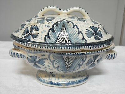 Ancien Recipient A Epices En Faience