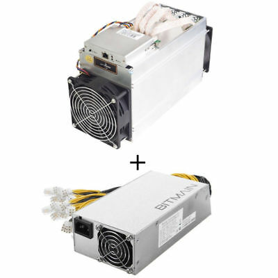 Bitmain Antminer L3+ 504MH/s Litecoin Miner With PSU,Power Cord,Cat5. US Seller.