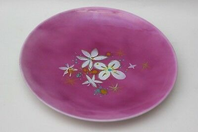 Thelma and Edward Winter large enamel plate with flowers, USA