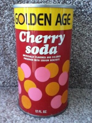 Golden Age Cherry Soda.(1974). Straight steel, pull top. No bar code or ml.