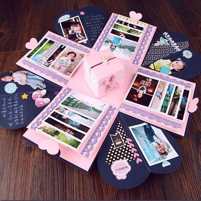 DIY Photo Album Explosion Box Scrapbooking DIY Valentine's Day Wedding Gift AW