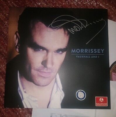 Morrissey Vauxhall And I Signed Battersea LP Very Rare Autographed The Smiths #1