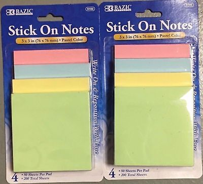 NEW POST IT FOUR COLOR 400pcs BRAND NEW FREE SHIPPING ONLY 0.99