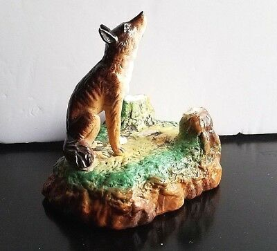 Vintage/Antique Wolf from Little Red Riding Hood Figure -Red Riding Hood Missing