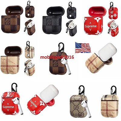 USA Leather Protective Shockproof Cover For Apple AirPods Earphone Charging Case