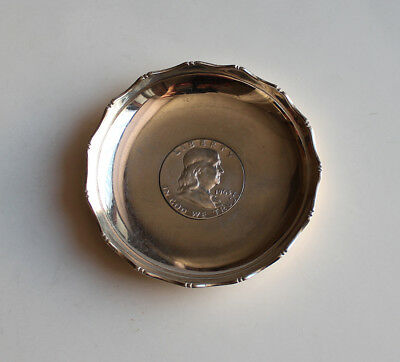 US 1963 Liberty Half dollar Sterling Silver  Dish With Marked