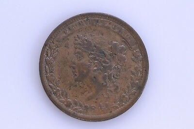 1837 Mint Drop Bentonian Currency Hard Times Token