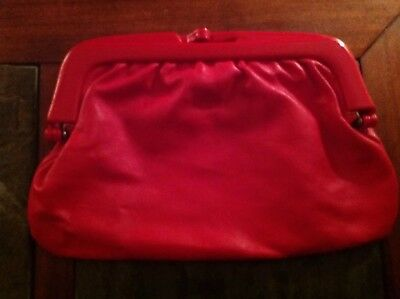 Vintage Red Clutch Made In Italy