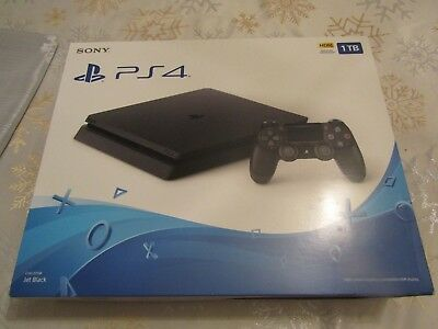 SONY PLAYSTATION 4 (PS4)- 1TB Black Console Brand new in Box Free Shipping